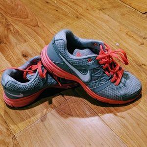 New bike running tennis shoe sneaker pink gray 8